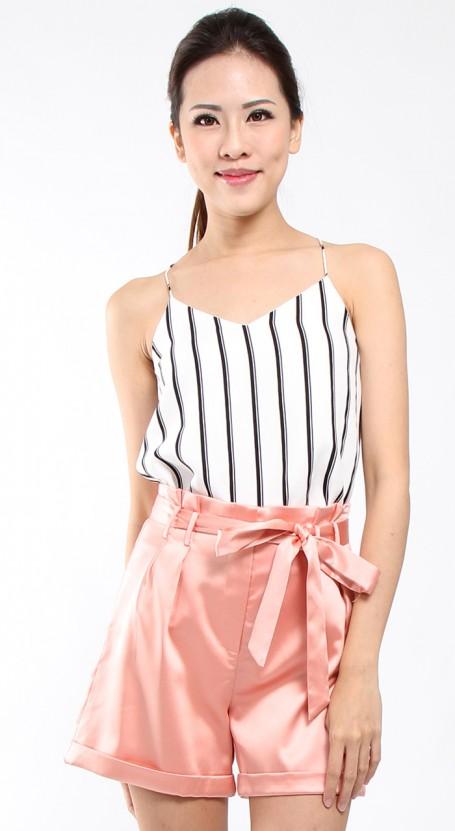 Paper Bag Shorts - Apricot Blush