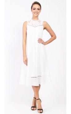 Victorian Long Midi Dress - White