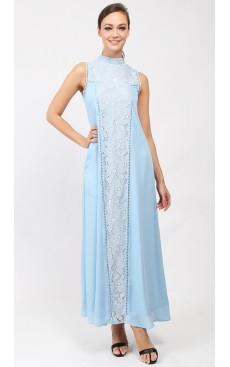 Victorian Maxi Dress - Sky Blue