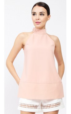 Side Slit Long Top - Rose Cloud