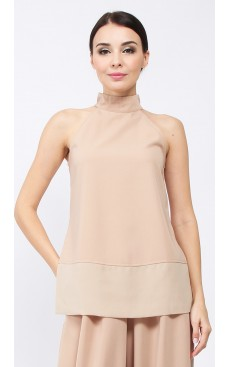 Side Slit Long Top - Brush Brown