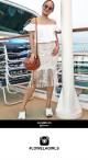 Lace Tassel Pencil Skirt - White
