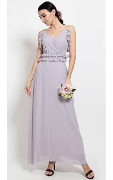 Frill Cami Maxi Dress - Misty Lilac