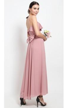 Bow & Fishtail Maxi Dress - Mellow Rose