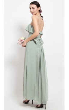 Bow & Fishtail Maxi Dress - Mist Green