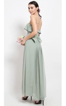 Bow & Fishtail Maxi Dress - Mist Green
