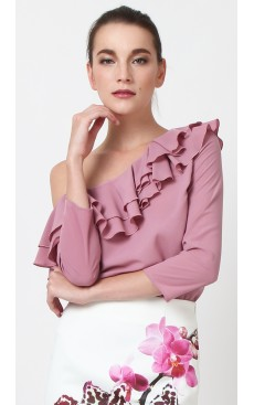Toga Ruffle Top - Lilas Pink