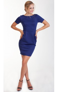 Fitted Pencil Dress - Dark Blue