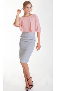 Tweed Pencil Skirt - Light Grey