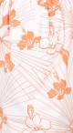 Bow Tulip Dress - White with Orange Hibiscus