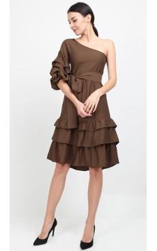 Toga Puff Sleeve Midi Dress - Cypress Green