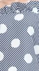 Toga Frill Top - Blue Polka Stripe