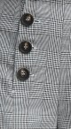 High Waist Button Flare Pants - Black Plaid