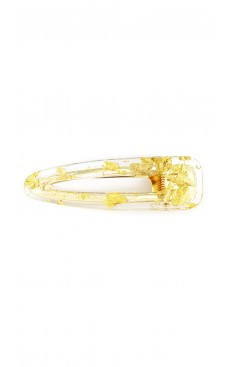 Gold Freckle Triangle Hair Clip - Transparent