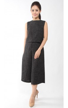 Tweed Culotte - Black