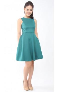 Skater Dress - Teal Green