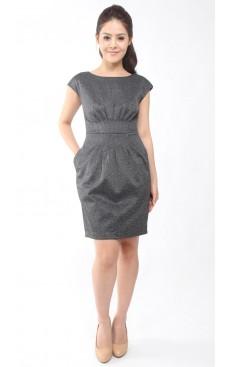 Sheath Dress - Dark Grey Marl