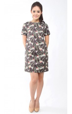 Shift Dress - Tropical Orchid