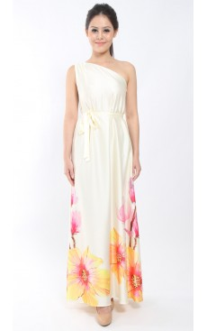 PARADISE Toga Maxi Dress - Vanilla