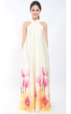 PARADISE Flare Maxi Dress - Vanilla