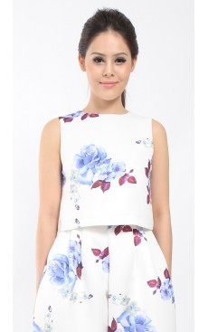 BLOSSOM Crop Top - White