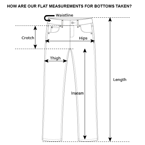 bottoms measurements