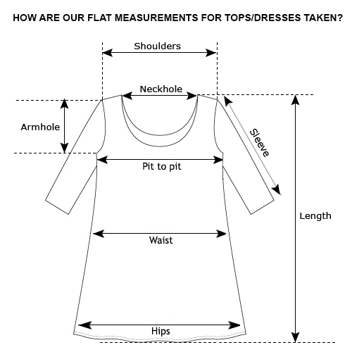 tops dresses measurements